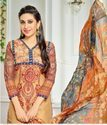 Cotton Embroidered Semi Stitched Suits