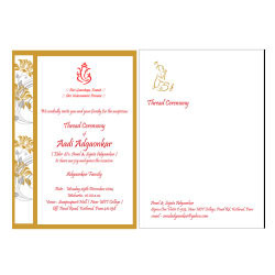 Thread Ceremony Cards With Envelope