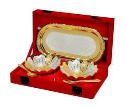Gold Plated Bowl Set -5 Pcs