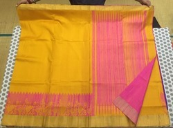 Party Wear Printed Hand Woven Soft Silk Saree, 6 m (with blouse piece)