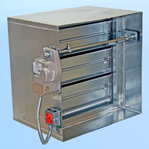 Motorized fire damper function for Motorized smoke fire damper