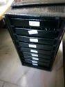 Black Leather Jewelry Trays Box