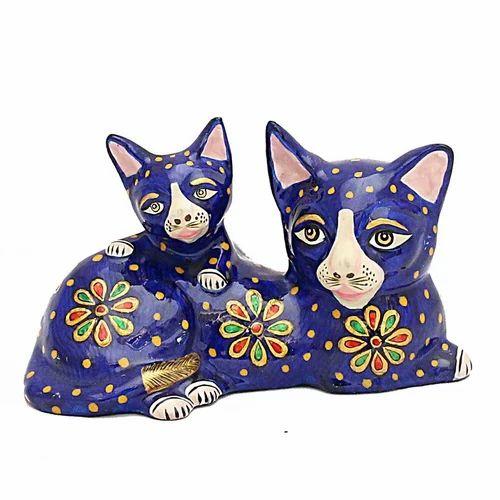 Meenakari Work Cat With Kitten MT058
