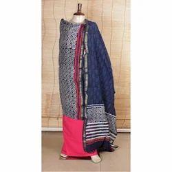 Printed Chanderi Salwar Suit