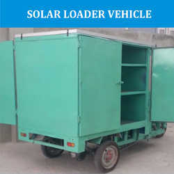 Solar Operated Loader Vehicle