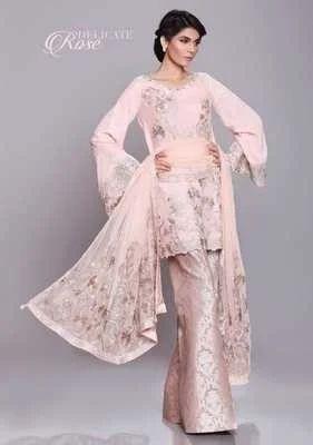 4e98efe2cf Peach Anaya Chiffon Suit, Rs 5500 /piece, Maryam Collection | ID ...
