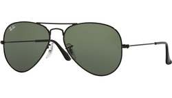Rayban Polarized Aviator Sunglasses Black