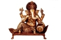 Ganesha Statue With Antique Finish Made In Bronze Metal Lord Ganesha Statue Made By Aakrati