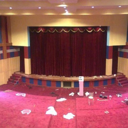 round motorized curtain system size 40 x 20 feet