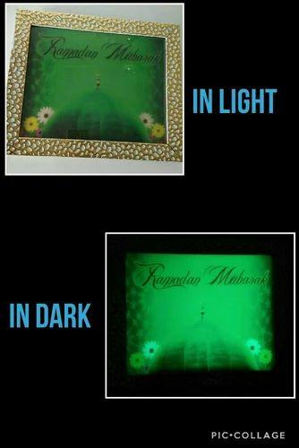 Glow In The Dark Photo Frame Ramadan Mubarak At Rs 1000 Piece New