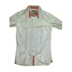 Half Length Cotton Kids Casual Shirt