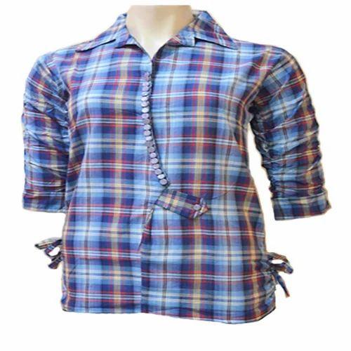 233752c861f74 Plain Semi-formal Girls Cotton Shirt