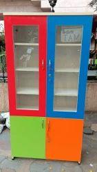 Batcha Furnitures Wooden Glass Door Cupboard, for Home