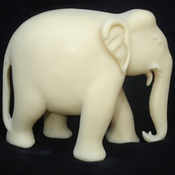 Elephant Trunk Down In Resin Elephant_25