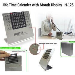 Life Time Calendar with Month Display H-125