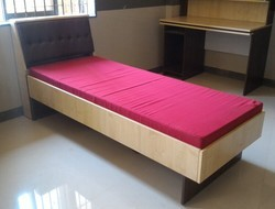 Single Bed With Cutioned Back