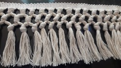 White Cotton Fringe Lace