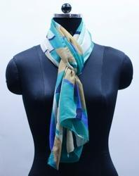 EGSC 0006 Abstract Print Cotton Scarf