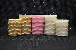 Pearl Designed Pillar Candles