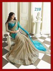 Silk With Shimmer Designer Saree