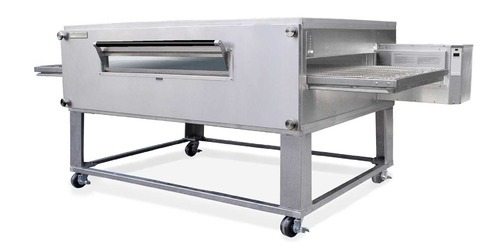 Double Deck Oven Electric Conveyor Pizza Oven, For Breads, Capacity: 25/Pc/H