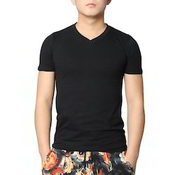 Cotton Men's V- Neck T- Shirt
