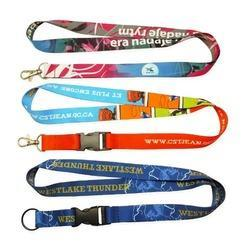 Multicolour Digital  Satin Lanyard