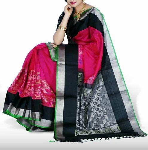 48e8974124 Silk Half Fine Zari Gold Kuppadam Pattu Sarees, Construction Type: Hand