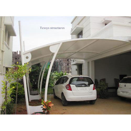 White Pvc Car Parking Shed Upto 10 Mm Rs 350 Square