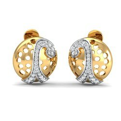 Gold Designer Diamond Earring