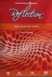 Reflection Multipurpose Paper (100 gsm), Packing Size (Sheets per pack): 500.0