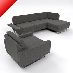 Black Leather Modular Sofa Sets