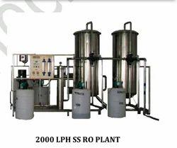 2000 LPH SS RO Plant