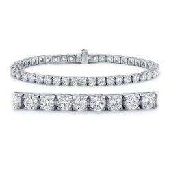 18K Real Diamond Tennis Bracelet