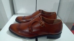 Dark Tan Brown Gents Party Wear Formal Shoes