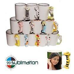 Animal Hanlde Photo Printing Ceramic Coffee Mug Sublimation