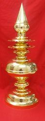 3 Feet Gopura Kalasam 24 K Gold Plated