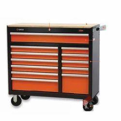 ORANGE 12 Drawer Portable Workstation, For Tools Box, Size/Dimension: Standard