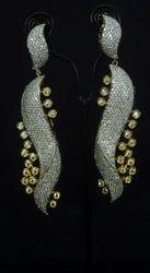 Single CZ earrings
