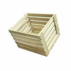 Rectangular Edible Wooden Fruit Crate for Shipping