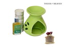 Gift Set with 4 Tealights and Aroma Oil