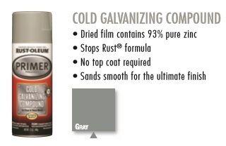 Rust Oleum Automotive Cold Galvanizing Compound Spray Paint Gray