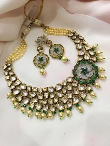 Designer Kundan Meena Jewellery Kundan Fusion
