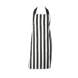 Embroidered Striped Cotton Aprons, Size: Standard