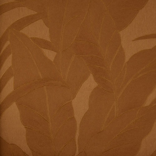 Moda Big Leaves Pattern Dark Brown Wallpaper