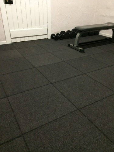 Classic Rubber Grey Gym Floors Tiles 25 Mm Rs 110 Square Feet