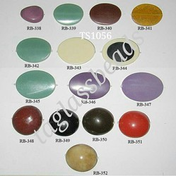 Oval Flats Mix Handmade Smoky Resin Beads, Size: 30x20 Mm
