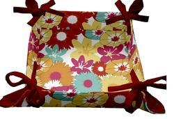 Fabric Printed Basket, Shape: Square