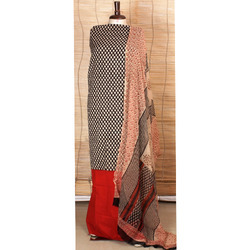 Cotton Suits with Chiffon Dupatta