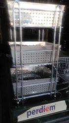 Modular Kitchen Steel Trolley